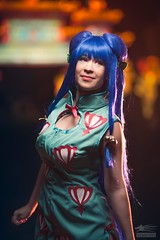 The Girl from China (Snowgrimm) Tags: shampoo ranma anime chinese festival beauty bluehair lights blur dark lady girl