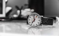 watch (malark_) Tags: blackandwhite macro art blackwhite nikon arty nikond70 random watch perspective subject brand 2012 mondaine
