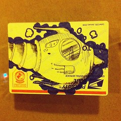 (billy craven) Tags: streetart chicago graffiti sticker tag spaceship slap usps rocketship label228 uploaded:by=instagram