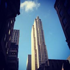 GE Building - Rockefeller Center - New York City (Sylvia Syracuse (Gothamiste) iPhone and Canon DSLR) Tags: christmas nyc newyorkcity newyork architecture buildings manhattan rockefellercenter gotham radiocitymusichall newyorknewyork radiocity thebigapple rockcenter newyorkscenes christmas2012