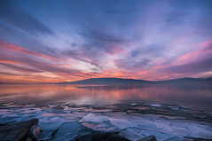Blast from the Past***EXPLORE*** (Adam's Attempt (at a good photo)) Tags: pink blue sunset orange mountains cold color reflection ice water rock utah nikon rocks colorful cement bluesky bluehour lakemountain utahlake blastfromthepast utahcounty d90 americanfork colorfulsunset lr4 iceoff americanforkut utahlakesunset utahlakeice americanforkboatharbor