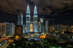 The Proud Malaysian Architecture (art-slice) Tags: park city light sky architecture night digital buildings landscape photography lights hotel nikon cityscapes places malaysia kualalumpur dri hdr klcc hisham hdri skyview kolam blending lighttrail nighthdr hdratnight sifoocom artisticslice shamcool