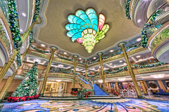 "Disney Fantasy Atrium Lobby Christmas Decorations • <a style=""font-size:0.8em;"" href=""http://www.flickr.com/photos/8980678@N03/8304036804/"" target=""_blank"">View on Flickr</a>"