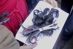Egyptian Women Cut their Hair in Tahrir Square to Protest Fundamentalist Constitution (MoudBarthez) Tags: against hair square women cut protest egypt egyptian constitution  tahrir