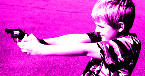 From flickr.com: Kid With Gun {MID-172041}
