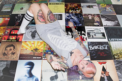 (333Bracket) Tags: music records london girl blog floor tattoos albums headphones ribcage fullframe vinyls 2012 333bracket canon5dmk2 ef3580mmf4