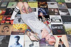 ♫ (333Bracket) Tags: music records london girl blog floor tattoos albums headphones ribcage fullframe vinyls 2012 333bracket canon5dmk2 ef3580mmf4