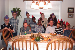 OK, Everybody Make A Silly Face ... Best Viewed Large (thegreatlandoni) Tags: thanksgiving birthday family friends party silly goofy pie colorado candles suburban denver ugly suburbs 69 sillyface uglyface birthdaypie goofyface partyhats thegreatlandoni jimlandon
