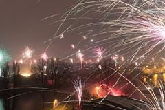 Happy 2013! (Frenklin) Tags: longexposure holland dutch night cityscape view fireworks nacht january nederland thenetherlands firework nieuwjaar le uitzicht groningen januari oudennieuw vuurwerk oudnieuw jaarwisseling stadsgezicht 2013 januari2013 jaarwisseling20122013