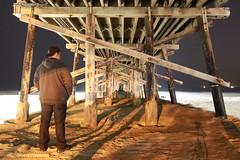 Newport Beach Pier (Ant_Man1120) Tags: ocean portrait beach water night digital canon dark eos rebel pier newport 500d t1i
