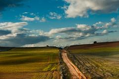 a road to nowhere? (manolo guijarro) Tags: road clouds landscape nikon camino horizon paisaje nubes manolo horizonte guijarro d700