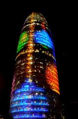 Torre  AGBAR (Andreu Anguera) Tags: barcelona catalunya torreagbar iluminaciónnavideña andreuanguera il·luminaciónadalenca