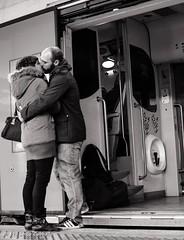 L'ultimo bacio...prima dell'addio. (Ph. Savio Cabballo) Tags: donna termini bn uomo treno amore ultimo bacio ragazza addio ragazzo partenza innamorati