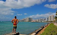 Monarch of the Islands (jcc55883) Tags: ocean sky beach hawaii nikon waikiki oahu pacificocean waikikibeach sanssouci waikikiaquarium d40 nikond40 kapiolanibeachpark waikikishoreline