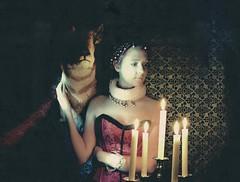 absolute absolution (American-Psycho-UK) Tags: light portrait girl dark painting model nikon candles glow elizabeth queen deer essentials d600 strobist