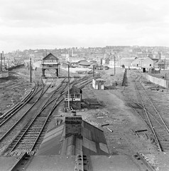 Sidings at Maynooth? No - it's Cork! (National Library of Ireland on The Commons) Tags: ireland cork tracks 1967 april 1960s monday 20thcentury railways sixties munster 17th railroads terminus kroc sidings nationallibraryofireland locationidentified jamespodea odeacollection corkbandonandsouthcoastrailway refugesiding albertquaystation