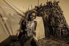 Erbore tribe woman in front of his hut (anthony pappone photography) Tags: africa travel portrait people woman beautiful face digital can