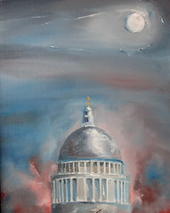 St Paul's (nicholas marsh) Tags: city red moon london thames architecture religious cathedral famous stpauls international ethereal wren spiritual academy iconic nocturne mystic oilpainting royalacademy christoperwren nicholasmarsh elsaperettifoundation