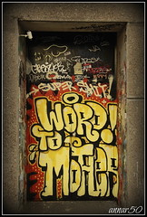 Word To Mother (annar_50) Tags: streetart london art graffiti tags east urbanart doorway brewery bricklane tagging truman roids 1411 wtm wordtomother