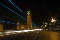 Gangsta's Paradise (Angus Duncan) Tags: uk longexposure bridge houses england house bus london cars westminster big traffic ben taxi capital housesofparliament parliament bigben icon taxis westminsterbridge houseofparliament lighttrail