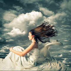 Dreaming of Flying (irene liebler) Tags: sky female clouds photoshop hair wings model wind floating ct teenager guilford photoshopcomposite marcellegosteli
