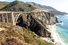 West Coast Gap (Éole) Tags: california bridge cliff usa creek 1932 landscape coast background bigsur bixby sr1 pacifichighway