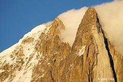 Aiguille Verte, aiguille Sans Nom et Drus (Jool CHX) Tags: montagne nuage chamonix coucherdesoleil aiguilleverte lesdrus