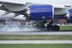 Touchdown (Flightline Aviation Media) Tags: airplane airport huntsville aircraft aviation jet cargo atlas boeing runway 747 freighter hsv stockphoto canon50d panalpina khsv 7478f carltjonesfield bruceleibowitz n850gt