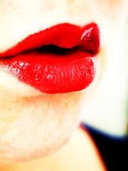 Ruby (lindscatt) Tags: red portrait woman selfportrait art me face female self mouth myself skin bokeh experiment fair lips redlips lip lipstick ruby chin representation rubyred