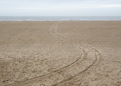 Scheveningen (Bart van Damme) Tags: sea tourism beach water coast sand fotografie scheveningen dunes tracks thenetherlands nopeople northsea windsurfing curve thehague windsurfer streetlighting semiabstract sociallandscape newtopography newtopographics december2012 transitionallandscape bartvandammephotography newtopographers bartvandammefotografie emailinfostudiovandammecom studiovandammephotography