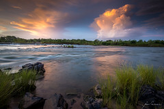 Ivanhoe Sunset Cells (Nolan Caldwell) Tags: sunset cloud storm river nikon australia wa thunderstorm kimberley ord ivanhoecrossing the4elements therebeastormabrewin australiathunderstorms d800e tripjan2013