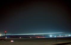Footprint (Infensus) Tags: longexposure winter sky night finland airplane glow airfield lighttrail