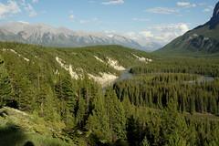 Bow River Valley (Stefan Jrgensen) Tags: bowriver bowrivervalley valley river mountrundlerange mountrundle mountains alberta canada banff canadianrockies hoodoos sony dslra700 a700