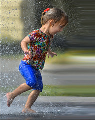Flash Speed (swong95765) Tags: girl kid running speed warp water wet quick distortion fast