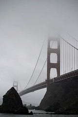 GoldenGate (J.S.Gonzalez) Tags: san francisco golden gate bridge fog rock ocean shore sky overcast over cast