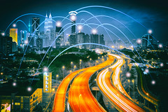 City scape and network connection (Krunja) Tags: abstract atom background blue business city communication community computer concept connect connection connectivity creative data design digital electronic element energy fantasy geometric global graphic icon idea infograph infographic internet light line malaysia medical modern morden motion network networking office shape skyline skyscrapers social structure symbol technology wallpaper web wifi wireless world kualalumpur wilayahpersekutuankualalumpur my