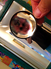 Through the Looking Glass (byzantiumbooks) Tags: werehere hereios mirror magnifyingglass self