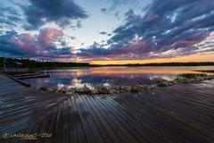 AFTER THE RAIN  (#3) (Wade.J.) Tags: lake pond cobbs park gander rotary boardwalk mirror twilight dusk evening calm sunset reflection clouds cloudy rain shimmer shining wadejanes