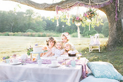 Katelyn's Whimsical Tea Party (BelliniPortraits) Tags: styled session girls party teaparty outdoor event pastels beautiful flowers macrame cake caketopper belliniportraits bellinipics