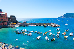 Cinque Terre -Vernazza- 02 (tomomega) Tags: cinqueterre italy laspezia    sea building   worldheritage  ship