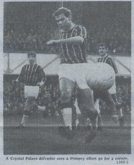 v crystal Palace   H (1920 to 79.80 pete,colin & paul.) Tags: portsmouth versus crystal palace 1960s sixties 196768 60s vintage newspaper photograph football scrapbook uk soccer england