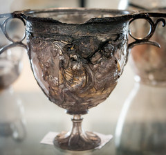 IMG_0280 (jaglazier) Tags: 1stcentury 1stcenturyad 2016 72316 adults ariadne bacchic bacchus campania copyright2016jamesaglazier fruit goddesses grecoroman imperial italy july liber men metalwork museoarcheologiconazionale museoarcheologiconazionaledinapoli naples napoli national nationalarchaeologicalmuseum nazionale plants pompeii religion rituals roman silver tableware women archaeology art barechested crafts floral gilded gilding goblets gods gold grapeclusters grapevines grapes metalworking relief repousse