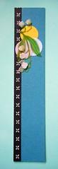 BM16 - Handmade bookmark (tengds) Tags: bookmark handmadeblue black flowers circles border papercraft tengds