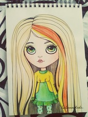 Blythedoll. Drawing