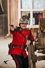 Steampunk - Age of Empires  140 (thePhotographerRaVen) Tags: steampunk tucson oldtucson arizona wwwc wwwc5 wildwest fantasy goggles uniforms blackpowder pistol capandball pithhelmet photosbyraven