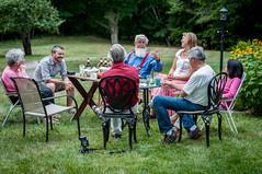 Roger entertaining (LucienTj) Tags: roger jamie dad unclerichard auntlaverne family happyhour wilton graywood conversation