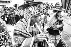 Joueur de flte./ Flute player (geolis06) Tags: geolis06 prou peru 2016 amriquedusud southamerica paucartambo vierge fte virgen carmen celebration clbration traditionnal danse dance blackandwhite bw noiretblanc omedem5 olympus 75300mm f4867 ii