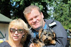 Pippy Woodley and Cllr Martin Brookes and Flo at Oakham Fun Day Cutts Close Oakham (@oakhamuk) Tags: flo oakhamfunday cuttsclose oakham rutland martinbrookes yorkiepoo puppy