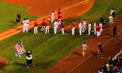 End of Game Ceremony   --   L1120592 (mshnaya, Thank you for commenting ) Tags: red sox fenway park green monster yankees game flickr picture photo photography candid leicac leica point shoot camera