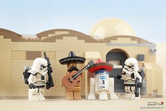 These aren't the droids we are looking for. (storm TK431) Tags: sandtrooper stormtrooper c3po r2d2 lego starwars rogueone